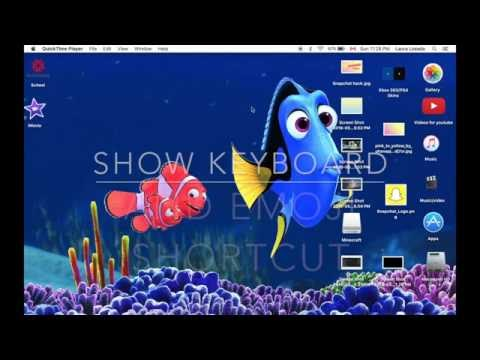 show keyboard/emoji shortcuts