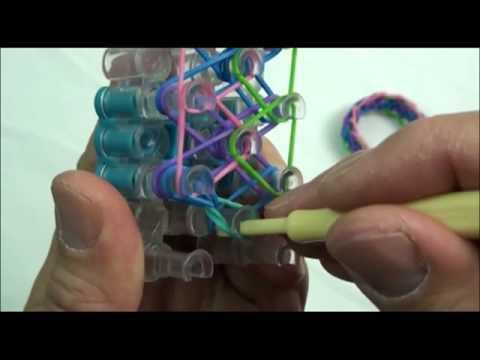 Diamond with Rings Rainbow Loom Bracelet Tutorial