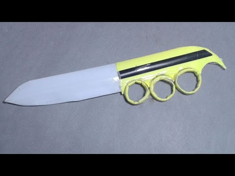 |DIY| How to  make a paper knuckle knife-EASY TUTORİAL !!