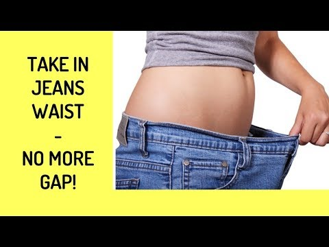 Fitted Jeans Waist-No More Gap in Back!  How To Take In Waist - Trailer