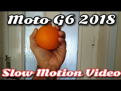 Moto G6 2018 Slow Motion Video Demo!!!
