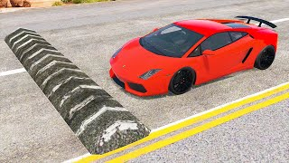 Cars vs Massive Speed Bumps - BeamNG.Drive ( ProGamingStudio )