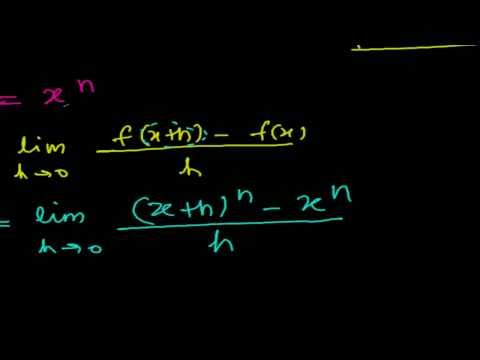 Power Rule of Derivative Calculus - Proof f ' (X to the power n) = n.X to the power (n-1)