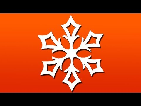 Paper SNOWFLAKE tutorial ? - Look here! Snowflakes in 5 minutes