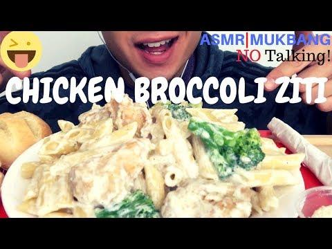 ASMR 'CHICKEN BROCCOLI ZITI' ALFREDO PASTA MUKBANG   SATISFYING EATING SOUNDS NO TALKING