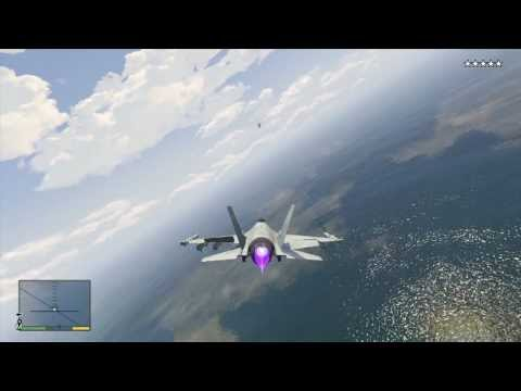 GTA 5 - Steal a Jetfighter & shoot down a commercial airliner
