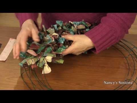 Transform your fabric scraps into a decorative wreath