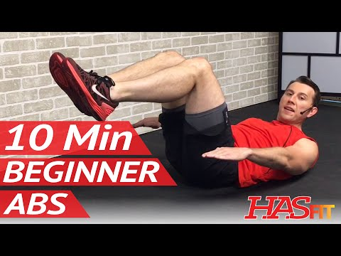 10 Minute Abs Workout for Beginners - 10 Min Easy Beginner Ab Workout for Women & Men at Home