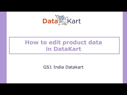 How to edit product data in DataKart?