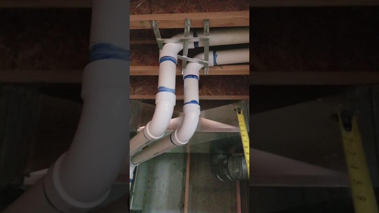 PVC flue furnace venting