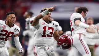 Georgia Bulldogs Radio Call Alabama Wins 2018 National Championship Game Tua Tagovailoa TD Pass