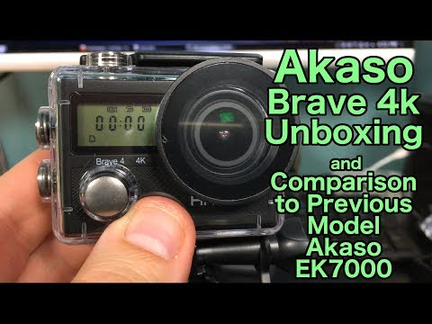 Akaso Brave 4K Camera Uboxing, Testing and Comparison to The EK7000