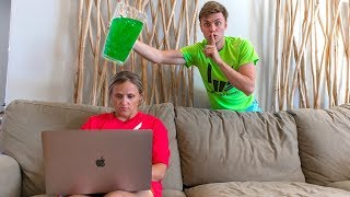 SLIME PRANK ON MOM!! (SHE WAS SO MAD)
