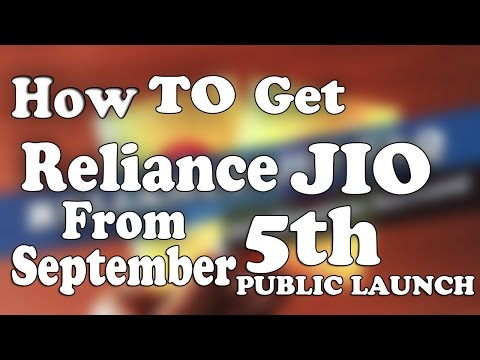 How to get reliance jio sim From September 5th