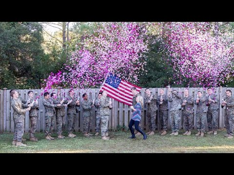 Military Widow Gets Help From Late Husband's Friends in Sweet Gender Reveal