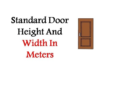 Standard Door Height And Width In Meters
