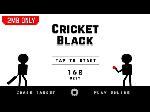 CRICKET BLACK ANDROID GAME REVIEW | SMALLEST CRICKET GAME