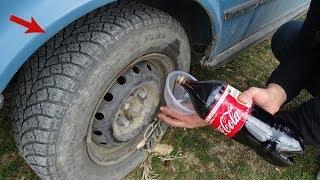 COCA COLAYI Tekerin İçine Doldurduk GEZDİK  Coca Cola vs WHEEL into FİLL