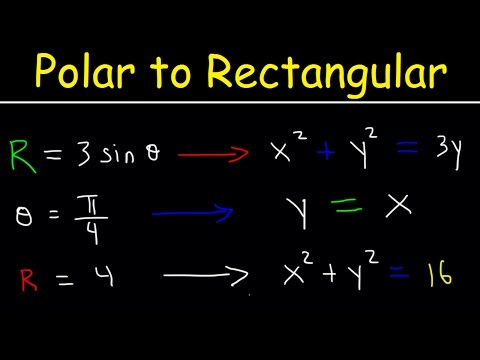Polar Equations to Rectangular Equations, Precalculus, Examples and Practice Problems