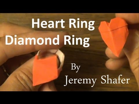 Origami Heart Ring / Diamond Ring