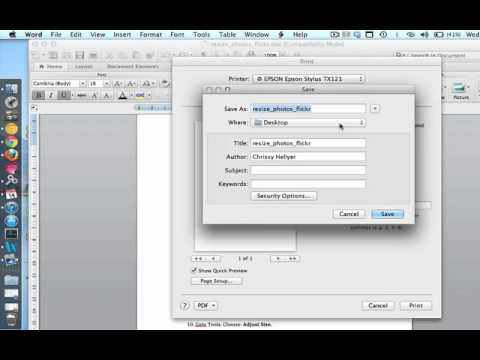 Convert Word Doc to PDF (Mac)