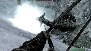 Skyrim Gameplay - Archer versus Blood Dragon
