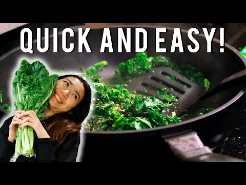 How to cook kale so it WON'T taste DISGUSTING, for a delicious healthy meal!