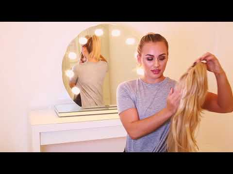 How to Clip in Hair Extensions | Clip in Flicky Ponytail Tutorial