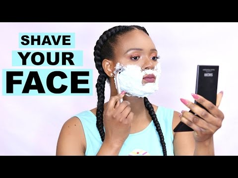 HOW TO SHAVE YOUR FACE | GET RID OF DRY SKIN & FACIAL HAIR | OMABELLETV