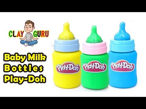 DIY How To Make Baby Milk Bottle With Modelling Clay - LEARN COLORS WITH EMOJI BABY FEEDER