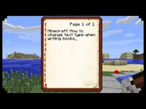 ✔ Minecraft: How to change text type when writing books