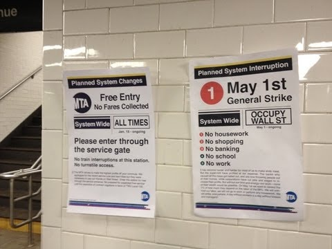 Occupy Wall Street Stages a Subway Fare Strike