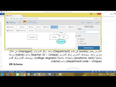 14 DB II  مراجعة على شرح ER مثال 2  المدرس والقسم