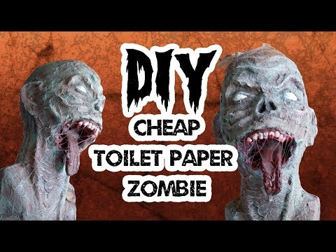 DIY DARIO Cheap and Easy Zombie prop with toilet paper and styrofoam
