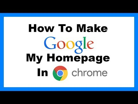 How To Make Google My Homepage In Chrome part 2 - NEW 2017