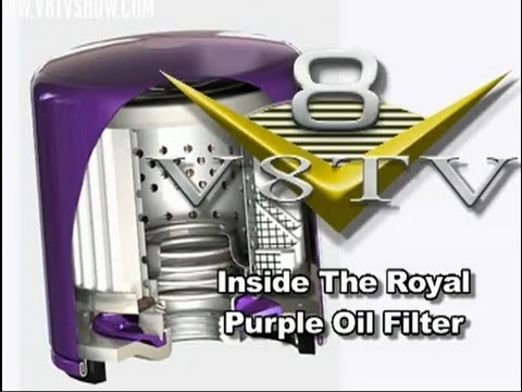 Inside The Royal Purple Synthetic Oil Filter Video V8TV