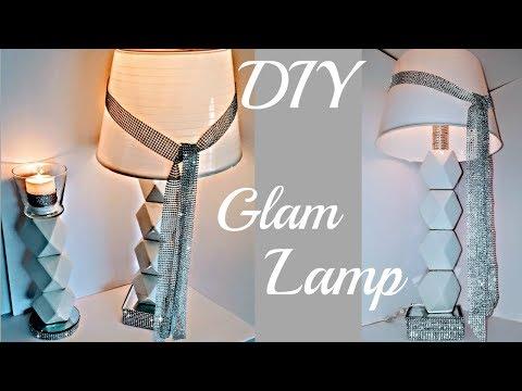 DIY DOLLAR TREE GLAM Lamp & Matching Candle Holder