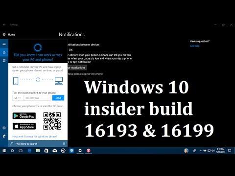 Windows 10 insider build 16193 & 16199