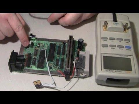 NES-101 CPU PPU repair - reset cap showed bad