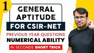 General Aptitude | CSIR NET | Numerical Ability | Life Science / Chemistry / Physics / Maths/ Part-I