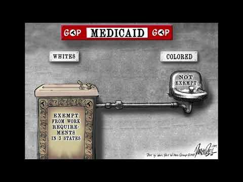 Darrin Bell cartoon animation: Medicaid