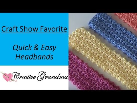 Quick and Easy Headband #121(FREE PATTERN) Craft Show Favorite