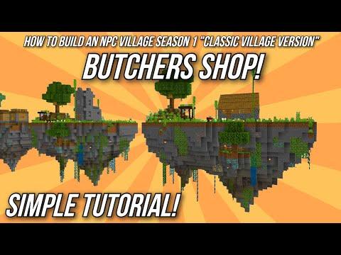 Minecraft Tutorial: How to build an NPC Village - Butcher's Shop!