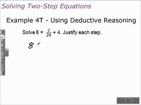 Unit 1 Lesson Topic 5 - Part 2 - Solving Two-Step Equations