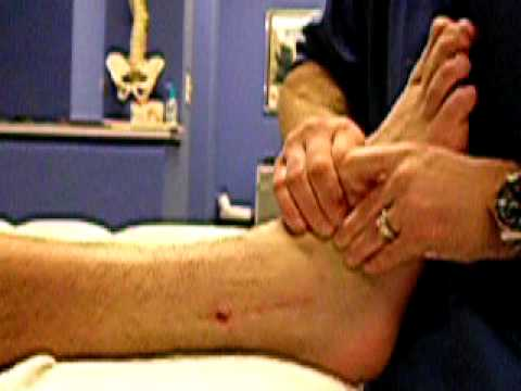 Scar tissue mobilization of fractured ankle