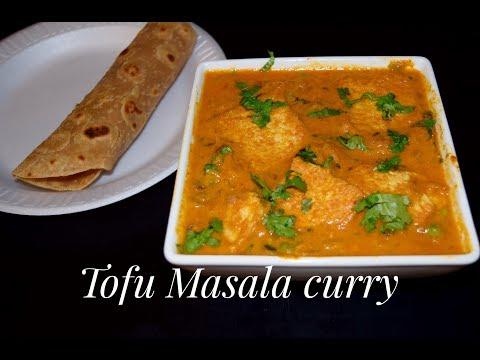 Tofu Korma Recipe / Tofu Masala Curry  Indian Style