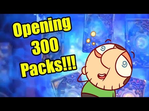 Hearthstone Witchwood Pack Opening: OVER 300 PACKS OPENED