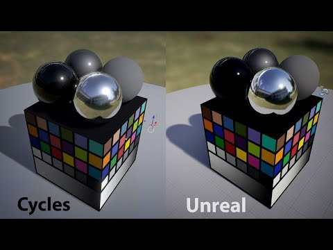 Maintaining Visual Consistency Between Blender Cycles & Unreal Engine