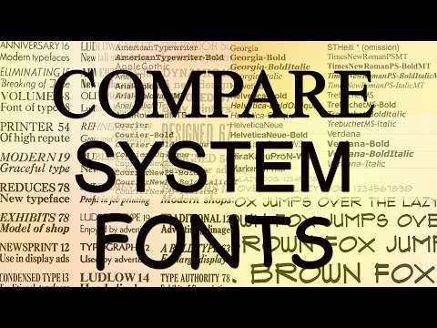 How to Preview and Compare System Fonts Windows