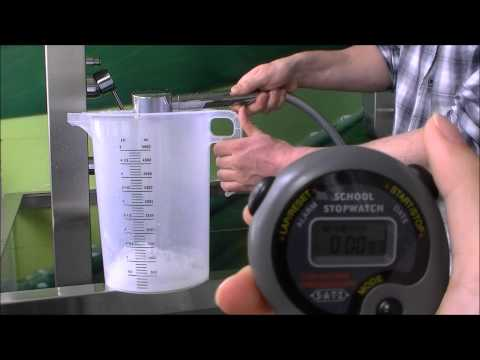 Felton Oxijet™ - calculating flow rate using known volume